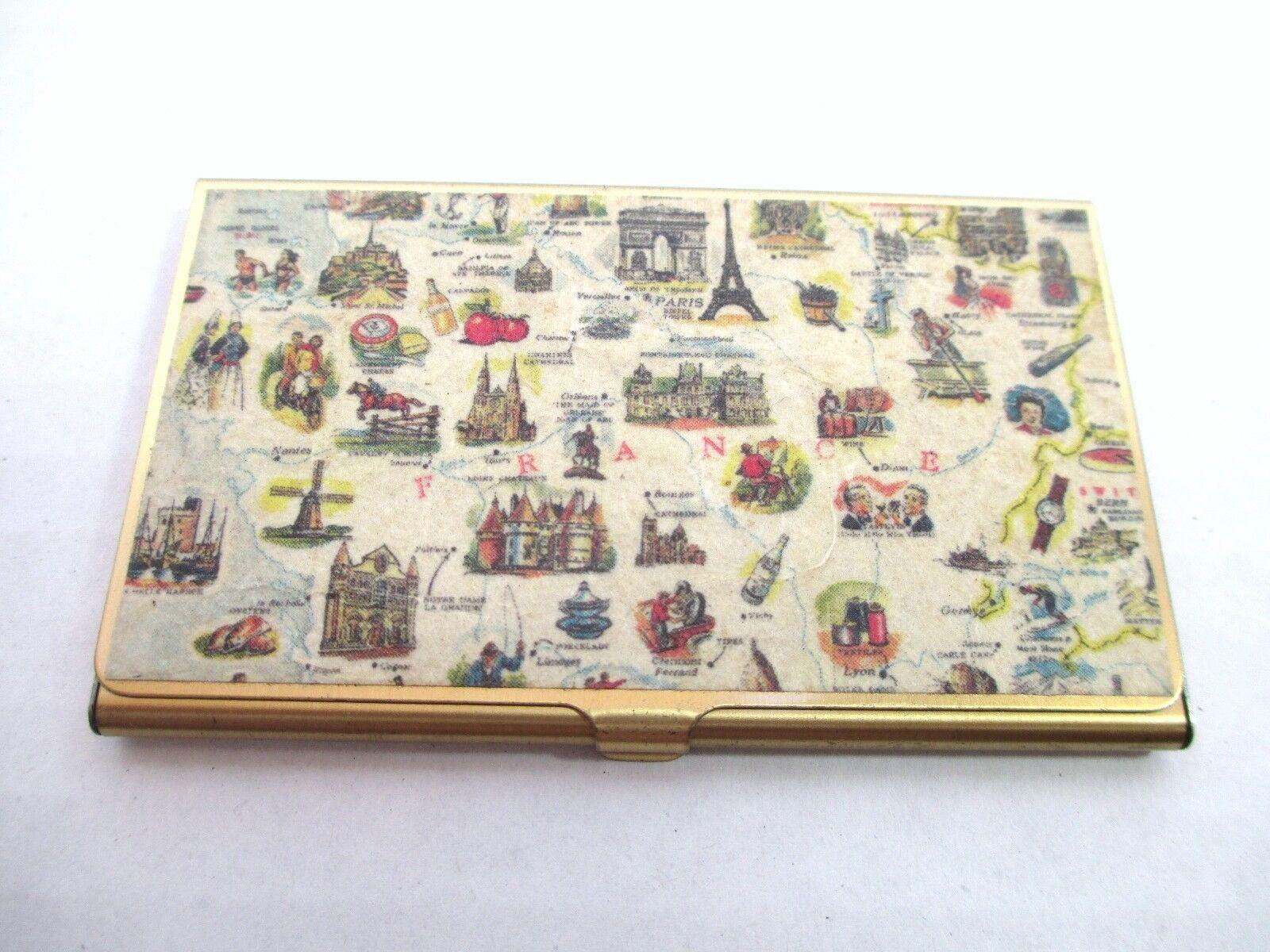 Unusual Vintage French France Business Card or Credit Card Holder
