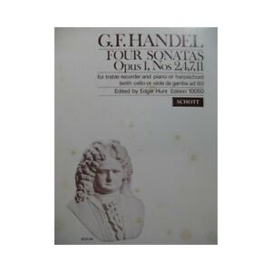 HAENDEL-G-F-Four-Sonatas-Flute-a-bec-Piano-partition-sheet-music-score