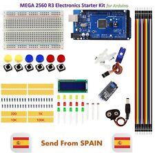 Starter Kit Mega 2560 R3 Breadboard Led Jumper Wire Sg90 Lcd Button For Arduino