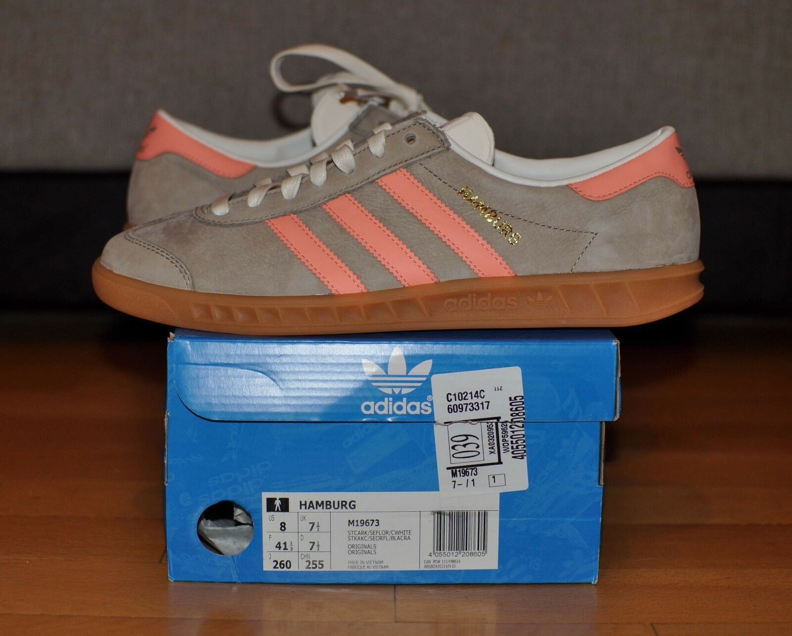 Adidas Adidas Adidas Hamburg M19673 Cargo Khaki Semi Flash orange Chalk White stockholm 0c0e1e