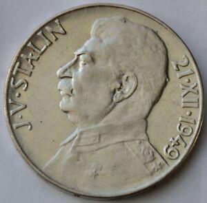 Czechoslovakia-100-Korun-1949-70th-Birthday-Josef-V-Stalin