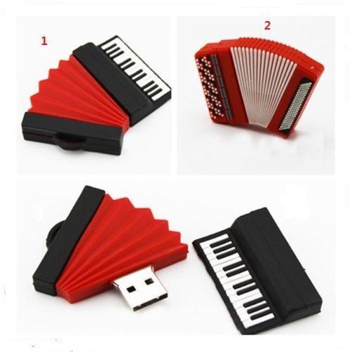 Accordion Piano Model USB 2.0 Memory Stick Flash Pen Drive 4GB 8GB 16GB 32GB BP8