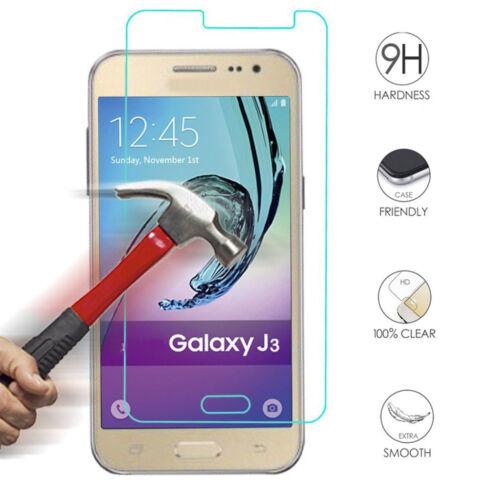Genuine Premium Tempered Glass Screen Protector Film for Samsung Galaxy J3 2016