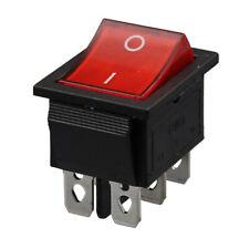 Lot5 Double Lampe Rouge 15//20A 6Pin DPDT on//off Boat Rocker Switch KCD8-212
