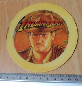 Williams-Pinball-Indiana-Jones-1993-Posavasos-Plastico-Promocional