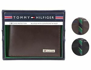 Tommy-Hilfiger-Men-039-s-Leather-Credit-Card-Id-Billfold-Coin-Rfid-Wallet-31Tl130049