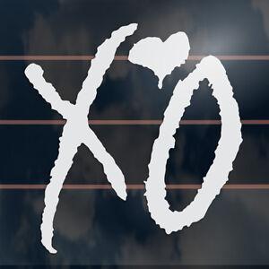 XO-Love-Heart-Hug-Kiss-the-weeknd-vinyl-Car-Sticker-110mm