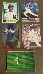Bernie-Williams-5-card-lot-including-1990-Topps-ROOKIE-701