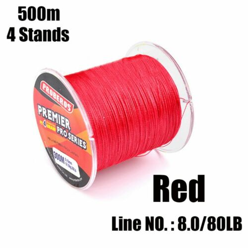 Angling PE Braided Multifilament Thread Tackle Wire 4 Strands Sea Fishing Line