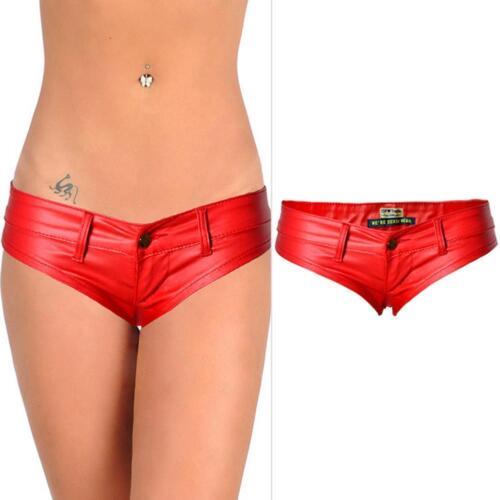 Da Donna Lucido Metallico Booty Shorts Bagnato Hot Pants Dance Party Discoteca Clu E5V6