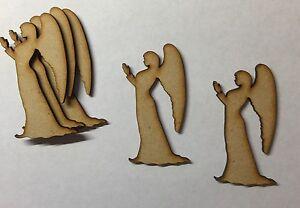 Anges En Bois Craft Shapes 3mm Mdf Bois De Noël De Noël Ornements Blank-afficher Le Titre D'origine Ohs7ea6t-10040753-592303771