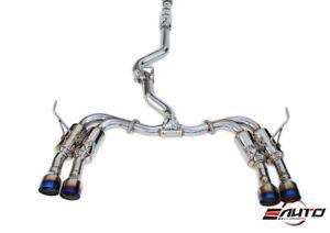INVIDIA GEMINI R400 Quad Titanium Tip Catback Exhaust for Subaru WRX STi 15-21