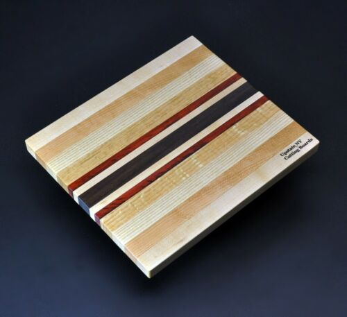 Upstate NY Cutting Board 8.5 x 10 x ¾ Domestic Mixed Hard Woods /& Exotic Padauk