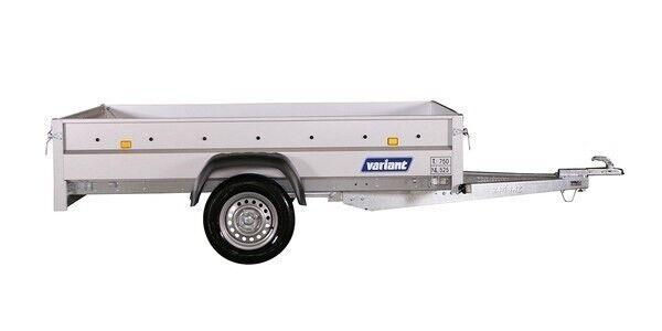 Ladtrailer, Variant 754 F1 m/tip, lastevne (kg): 537