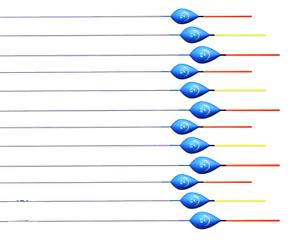 Set of 12 Mochkov 16-10 Hand Made POLE FLOATS 1g; 1.5g; 2g