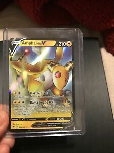 049//185 Vivid Voltage Ampharos V Ultra Rare Pokemon NM//M
