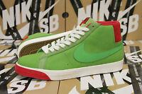 Nike Blazer Premium SB Size 12 GREEN SPARK PIMENTO RARE DS 314070 332