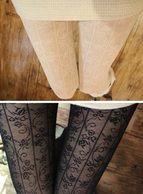 Sexy Ladies Hosiery Lace Jacquard Flower Pattern Pantyhose Tights Stockings Hot