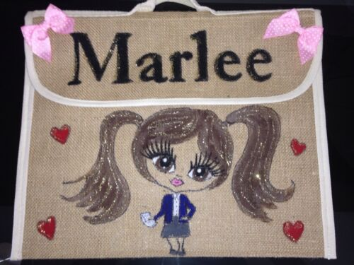 GIRLS //BOYS PERSONALISED  SCHOOL BOOK BAGS ANY NAME ANY UNIFORM AND STYLE GIFT