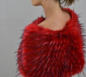 special for shoe new list dirt cheap Dettagli su Donna rosso in finta pelliccia stola per abiti da sposa abiti  da sera o party- mostra il titolo originale