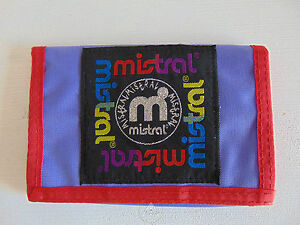 Vintage-80-90-MISTRAL-Portafoglio-Portamonete-Purse-Wallet-Money-Bag-Viola