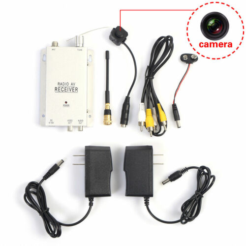 Mini Wireless Home Security Nanny Camera Hidden Spy Pinhole LED Complete System