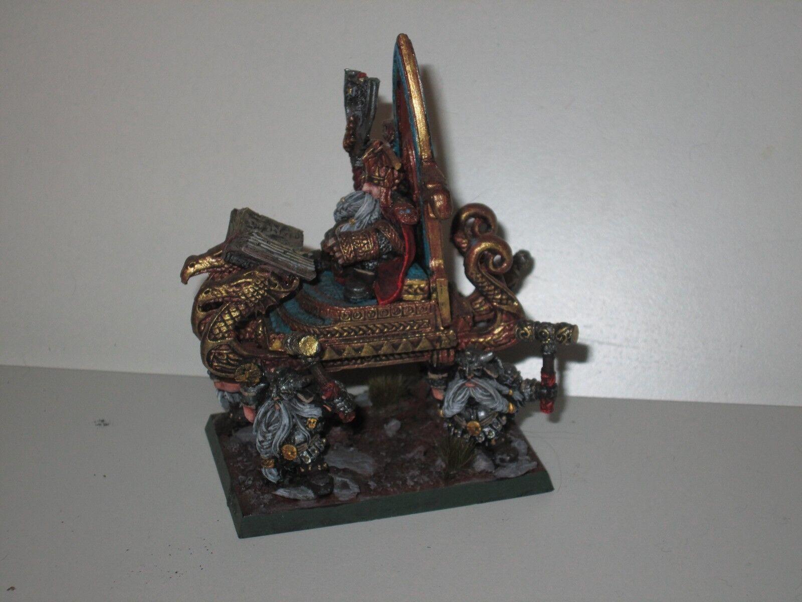 Warhammer Fantasy Dwarf Lord throgrim grudgebearer Finecast Résine Épuisé 2455   juste l'acheter