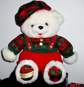 "2015 WalMART CHRISTMAS Snowflake TEDDY BEAR White Boy 20/""White//Red Outfit NWT."