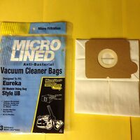3 Eureka Ub Canister Vacuum Bags Micro Lined Made In The Usa