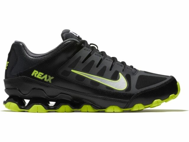 Nike Reax 8 TR Mens Anthracite Black Volt Cross Training Running Shoes Sneakers