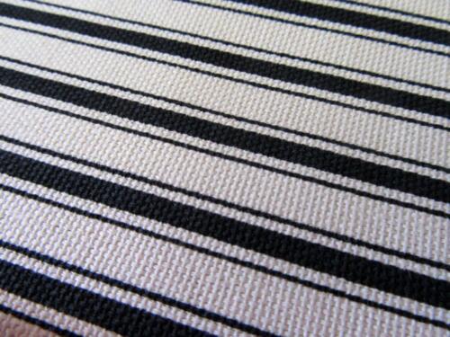 Custom Farmhouse Black*Cream French Ticking Stripe Window Curtain VALANCE 18x80