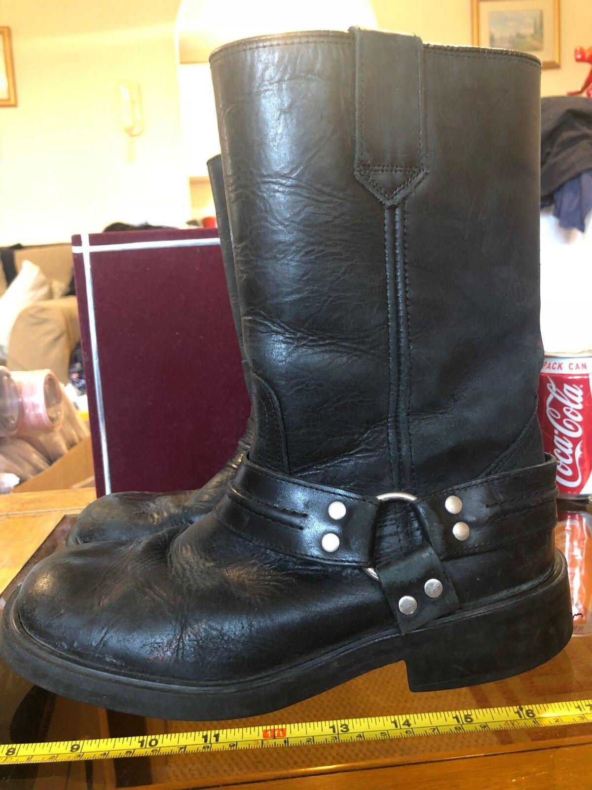 Suela De Goma Black Buckle Boots Horse Riding shoes UK 5 Europe 40 Used Women