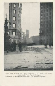 SAN FRANCISCO CA - Third and Market Streets After 1906 Earthquake and Fire - udb