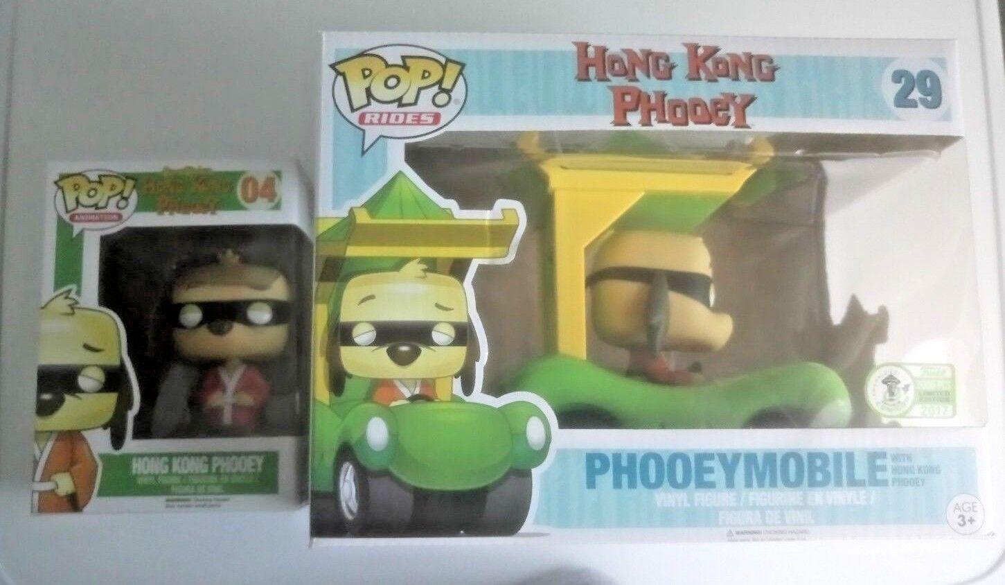 Funko Funko Funko POP Hong Kong Phooey (Rare & Vaulted) + ECCC 2017 Phooeymobile 1 of 3000 6b47f4