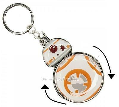 "STAR WARS VII FORCE AWAKENS Licensed BB-8 Droid ""Rolling"" KEY CHAIN Resistance"
