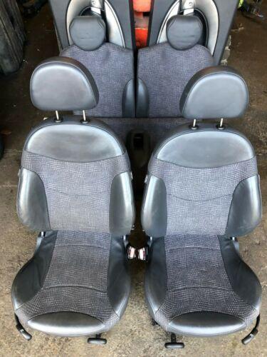 BMW Mini One//Cooper//S Black Half Leather Seats R50//R53 Hatchback 2001-2006