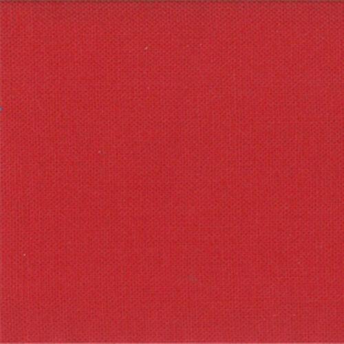 Red Quilting Fabric Sold Per 1//4 Metre Moda Fabric Bella Solids Cherry