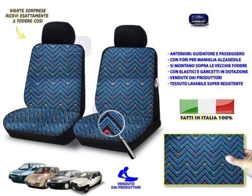 Fiat Seicento Fodere Copri sedile per sedili foderine per auto cotone colori blu
