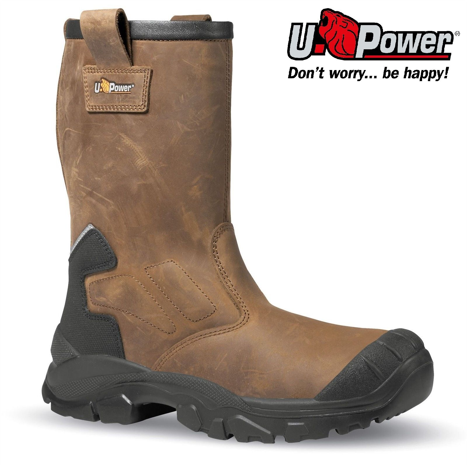 U POWER ALASKA S3 SAFETY LINING COMPOSITE TOE CAP MIDSOLE RIGGER WORK Stiefel Größe