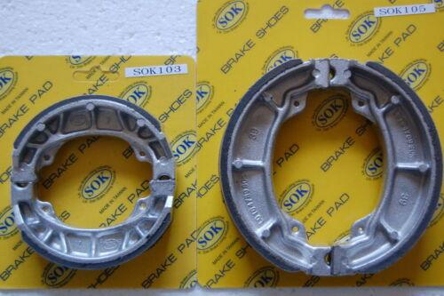 81-86 ATC200 FRONT REAR BRAKE SHOES fits HONDA ATC 200 Big Red