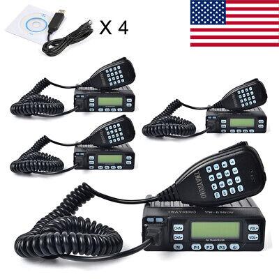 70CM 2 Meters Packable Car Radio Portable Mobile Transceiver 25W Program Cable