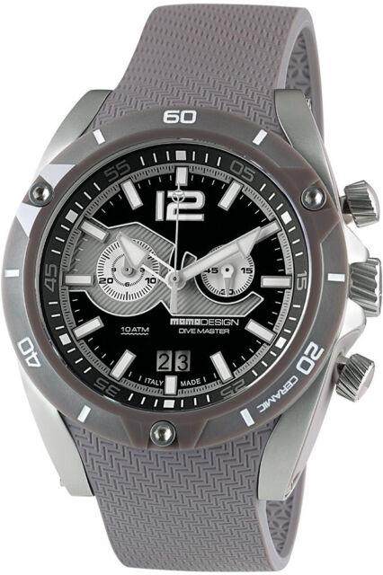 Momo Diseño Diver Buzo Master City Reloj Cronógrafo Fecha MD282LG-11 Motorsport