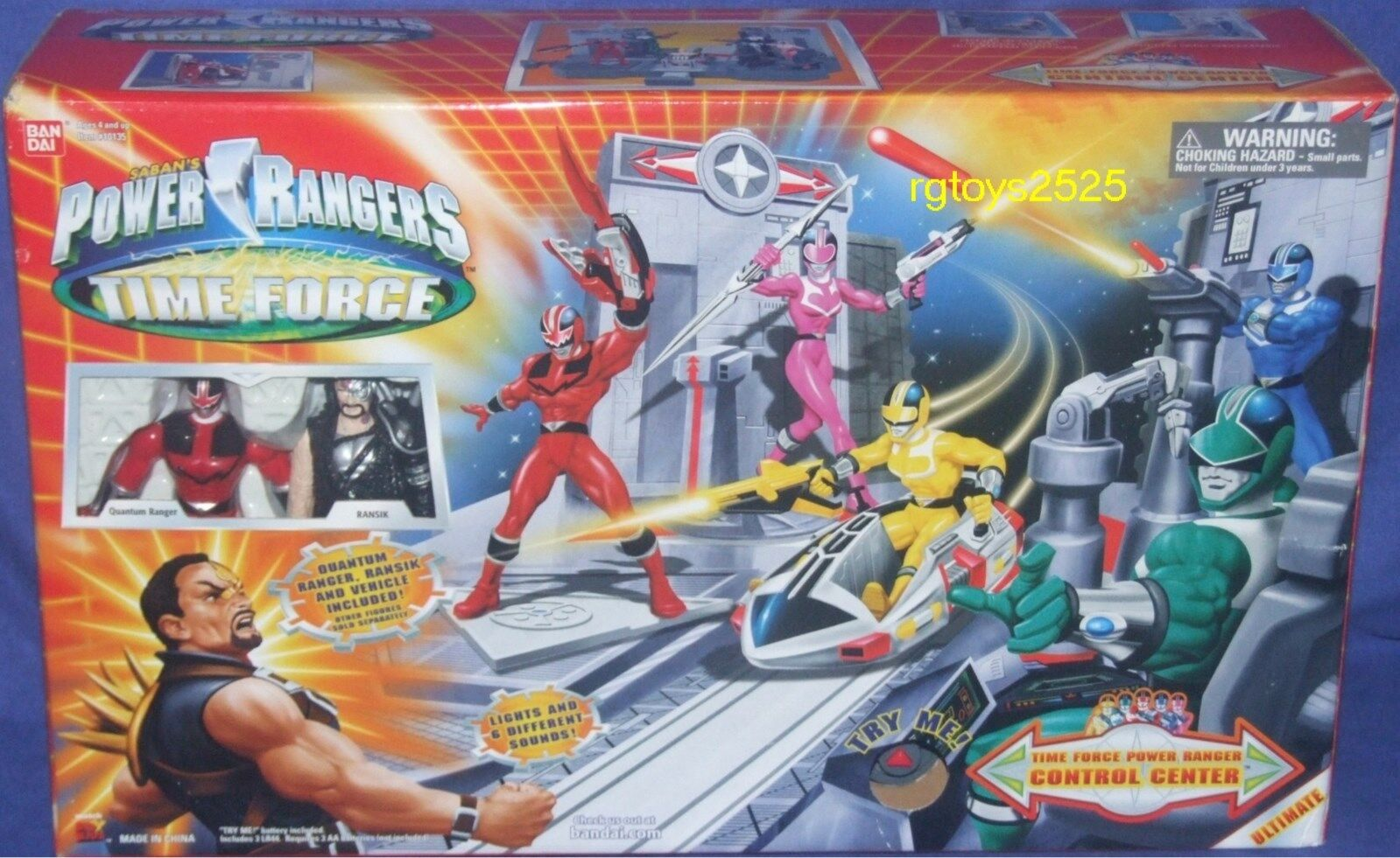 Energia Rangers Time Force Control Center w Exclusive 5   Ransik Quantum Ranger nuovo  ti aspetto
