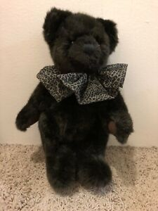 Dennis-Basso-Bear-Plush-Faux-Fur-12-inches-Jointed-Soft-Teddy-Bear