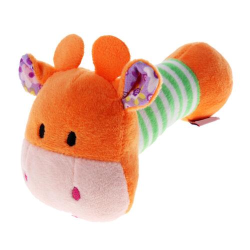 Toy Hand Plush Bell Baby Rattle Doll Animal Soft Rattles Kids Newborn