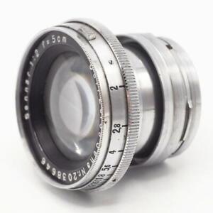 Carl-Zeiss-Jena-Sonnar-50mm-1-2-Contax-Rangefinder-Lens-Vtg