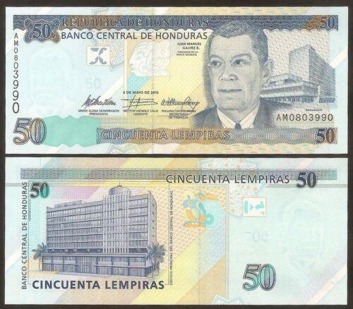HONDURAS 50 Lempiras 2010 UNC Pick 94c
