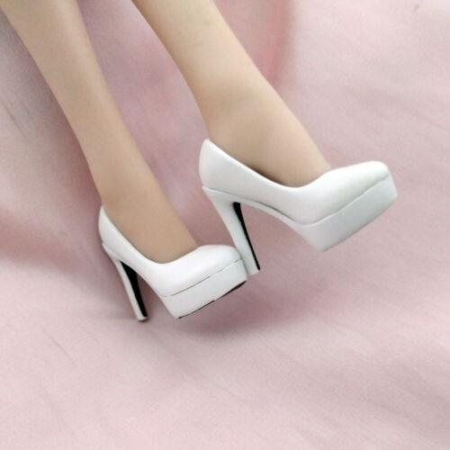 """1:6 figure féminine haut talon chaussures modèle blanc action Accessoires pour 12/"""" Poupée"""