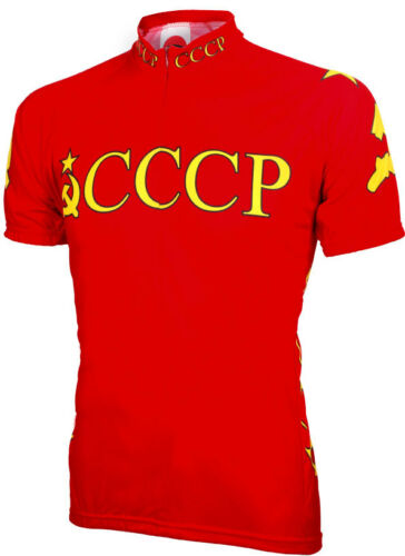 World Jerseys Soviet Union Olympic Mens Cycling Jersey bike bicycle CCCP
