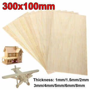 10x Holzplatte Modell Bastelholz 100x100x1mm DIY Balsa Künstlerbedarf Basteln